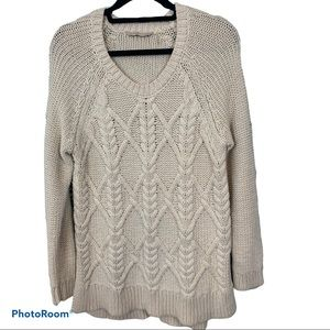 Soft Surroundings Oversized Cable knit sweater M